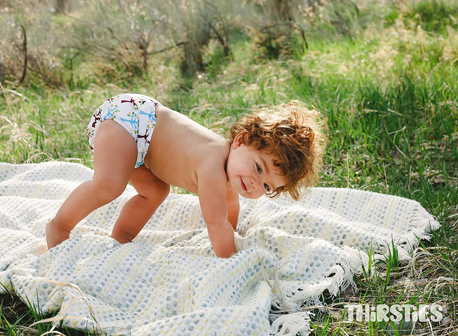 Thirsties Snap Natural One Size All in One Fin Diapers
