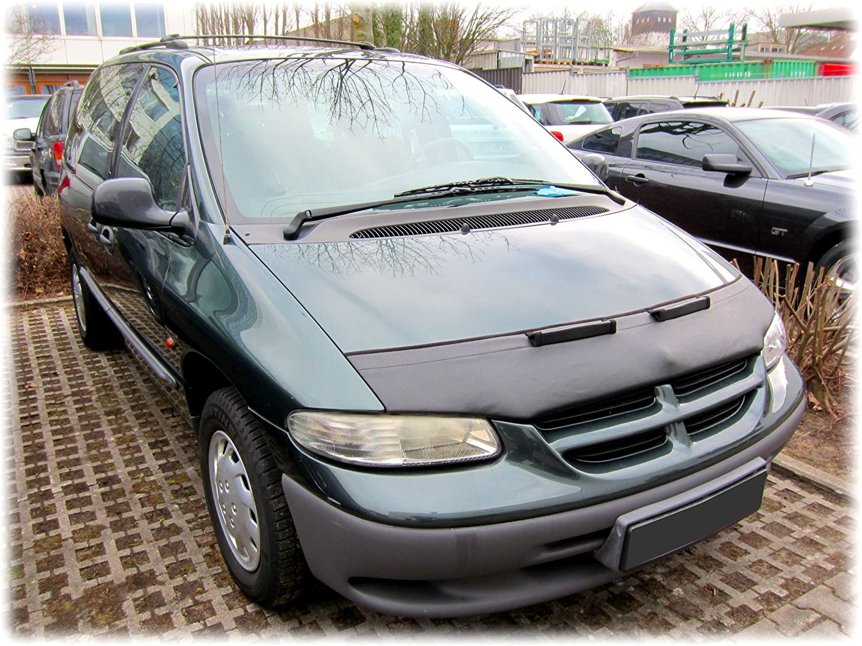 AB-00931c Carbon Fiber Look Hood Bra fit Chrysler Plymouth Grand Voyager Voyager Dodge Caravan1996-20000 Front End Nose Mask Bonnet Bra