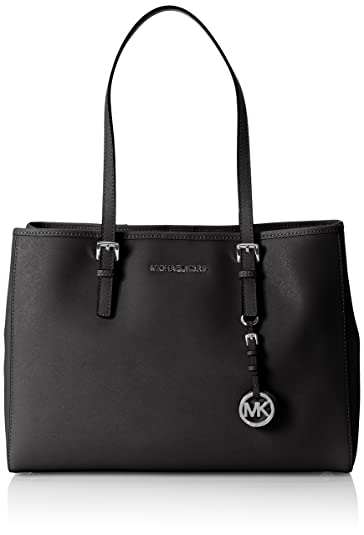 908b315ea4c8 Amazon.com  Michael Kors Jet Set Travel Large East West Tote in Black  Shoes