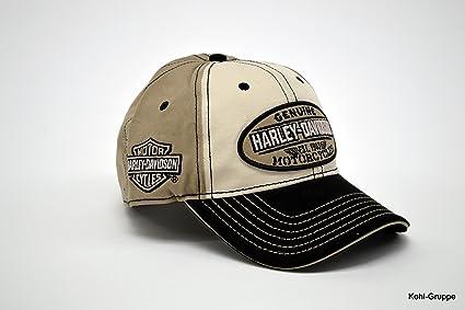 Gorra de béisbol con bordado genuino de Harley Davidson: Amazon.es ...