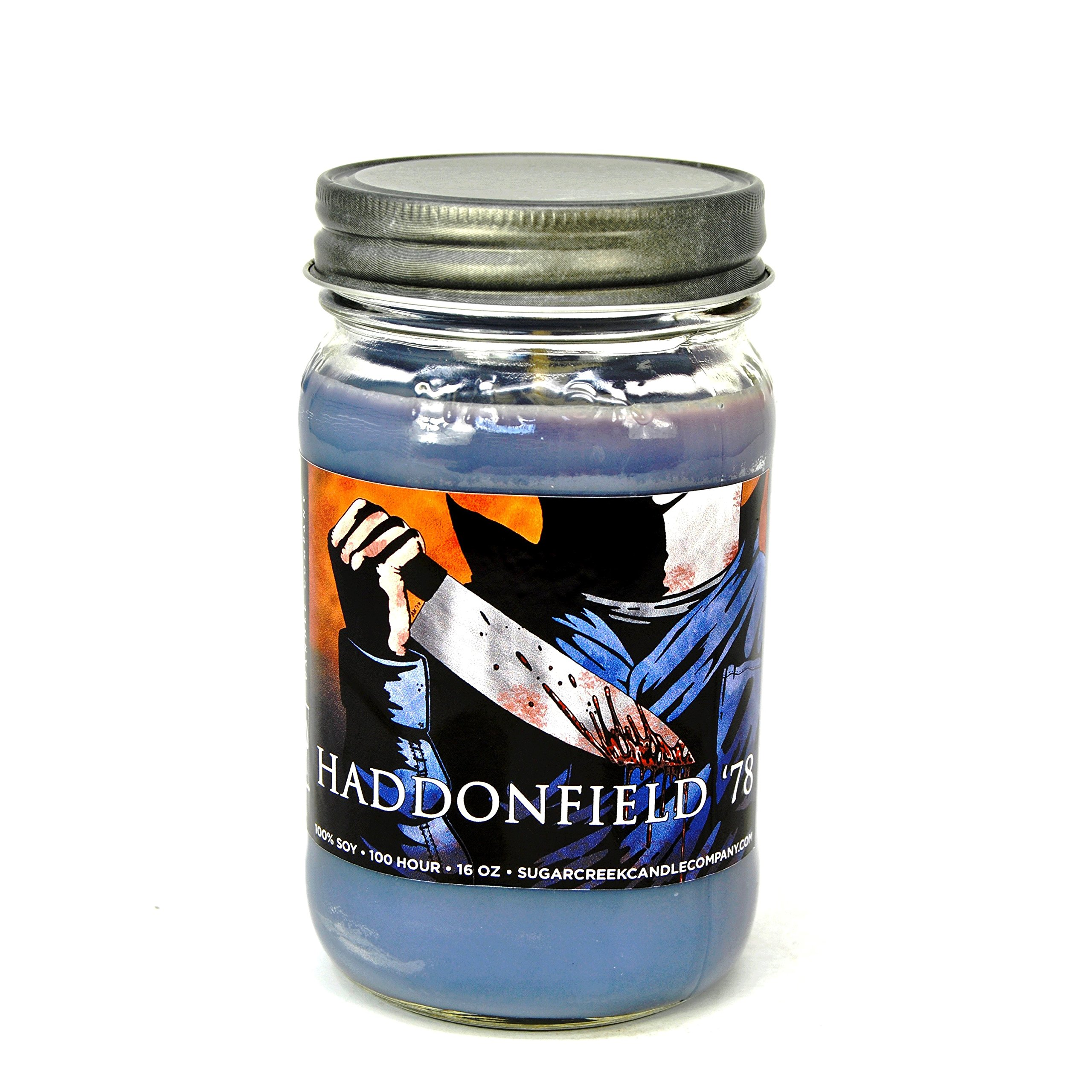 Sugar Creek Candles Haddonfield 78 (Halloween the Movie) 100% Soy Wax Candle. Soy Candles Burn Cleaner ~ Longer ~ Non-Toxic ~ THE ORIGINAL 100% Yinzer Made in USA. Gift For Any Occasion
