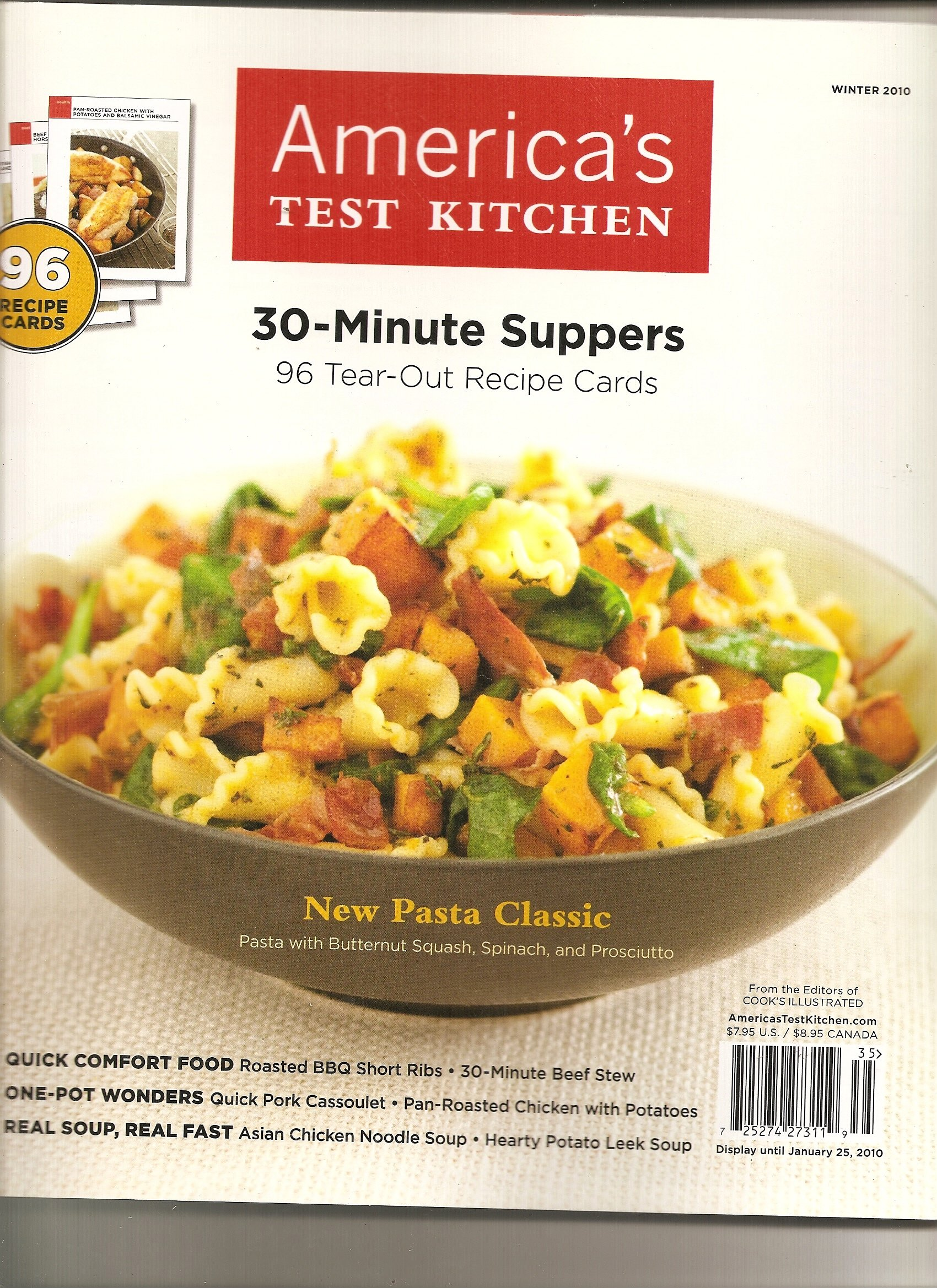 Americas test kitchen 30 minute suppers cooks illustrated 96 tear americas test kitchen 30 minute suppers cooks illustrated 96 tear out recipe cards winter 2010 amazon books forumfinder Images
