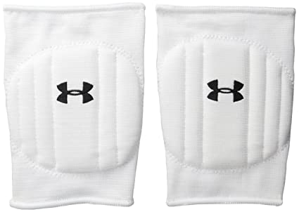 9b18365f5b Under Armour Unisex Armour Volleyball Knee Pad, White/Black, Small/Medium