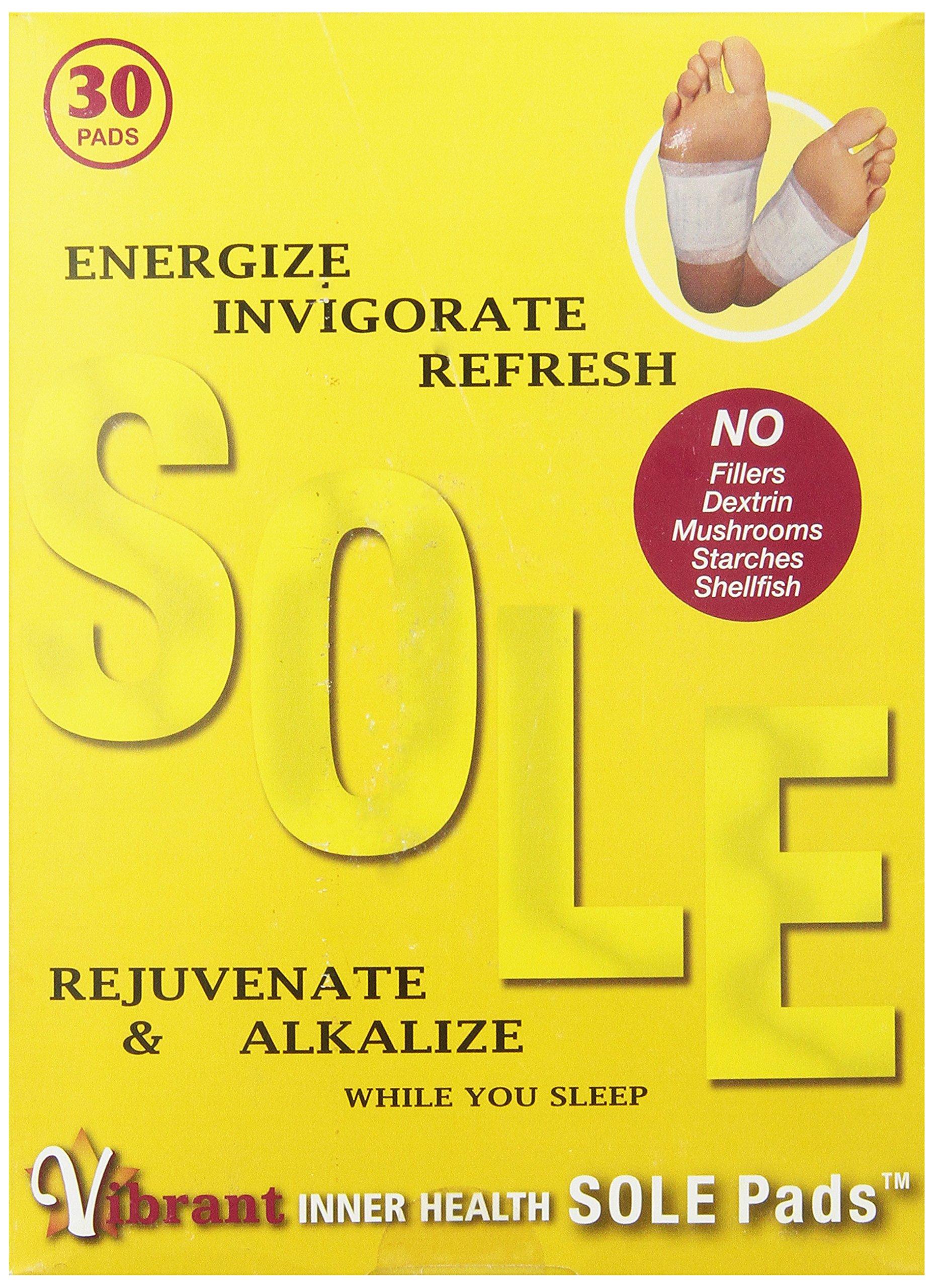 TRR Enterprises Vibrant Inner Health Sole Pads, 30 Count