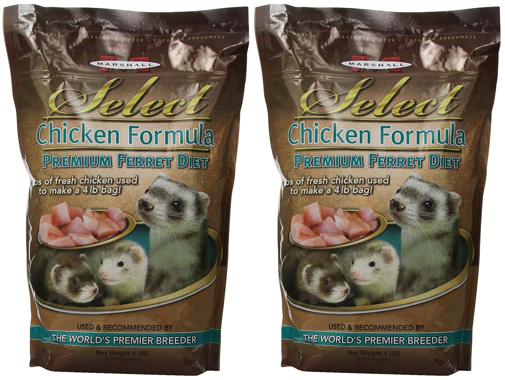 Marshall Pet Products (2 Pack) Select Chicken Formula Premium Ferret Diet by Marshall Pet Products (Image #1)