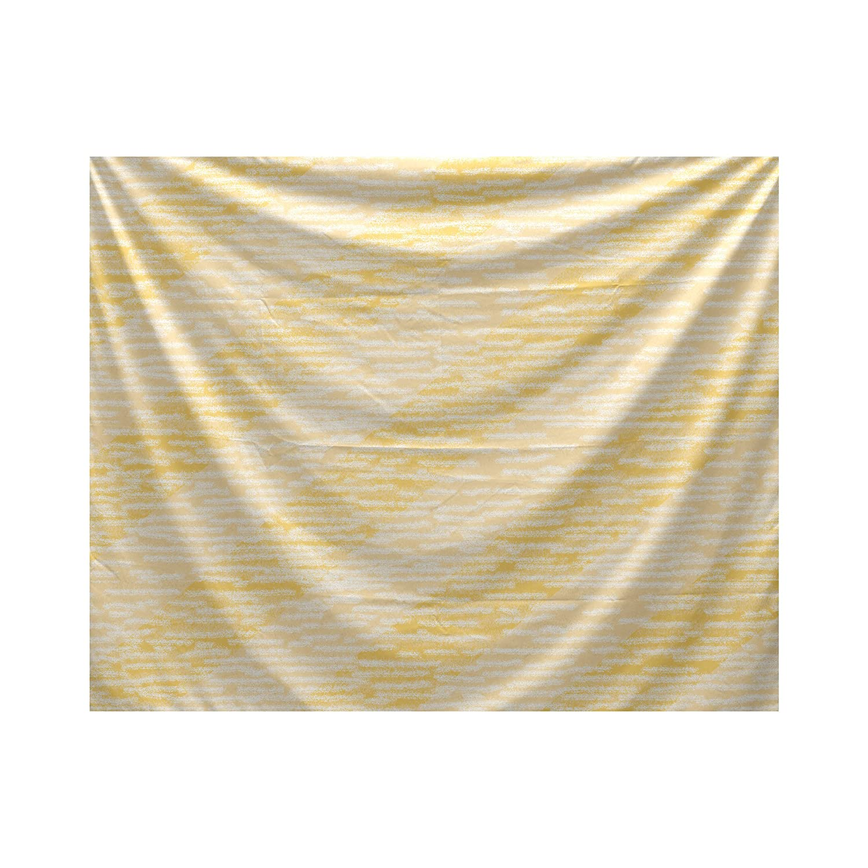E by design Marled Knit Stripe Geometric Print Tapestry 50 x 60 Yellow