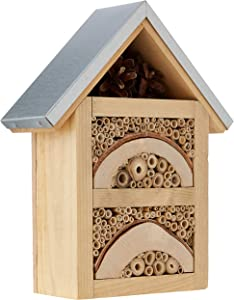 Natures Haven Garden Insect/Bug House with Metal Roof