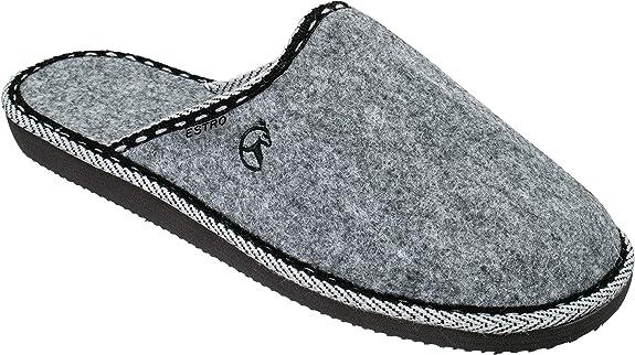ESTRO Pantofole Lana Ciabatte Uomo Casa Pantofola Ciabatta Vera Pelle Suola di Memoria Frost
