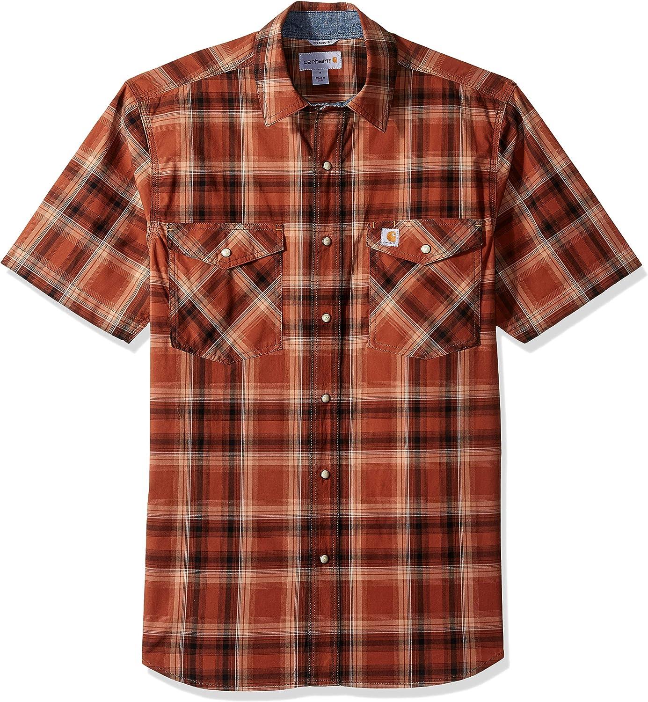 New Carhartt Men/'s Rugged Flex Bozeman Short Sleeve Shirt Small 103552 372