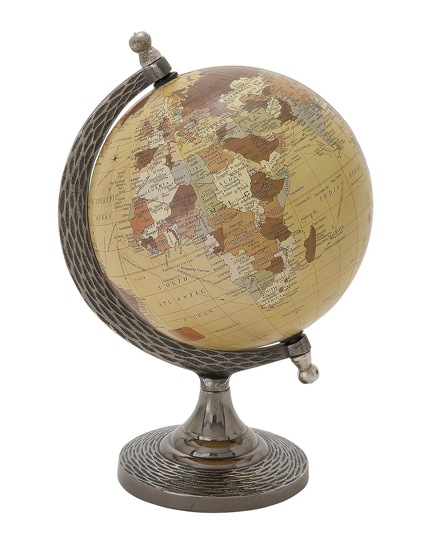 Benzara Deco 79 68846 Elegant And Stunning Metal PVC Globe, 7 W x 10 H 7 W x 10 H