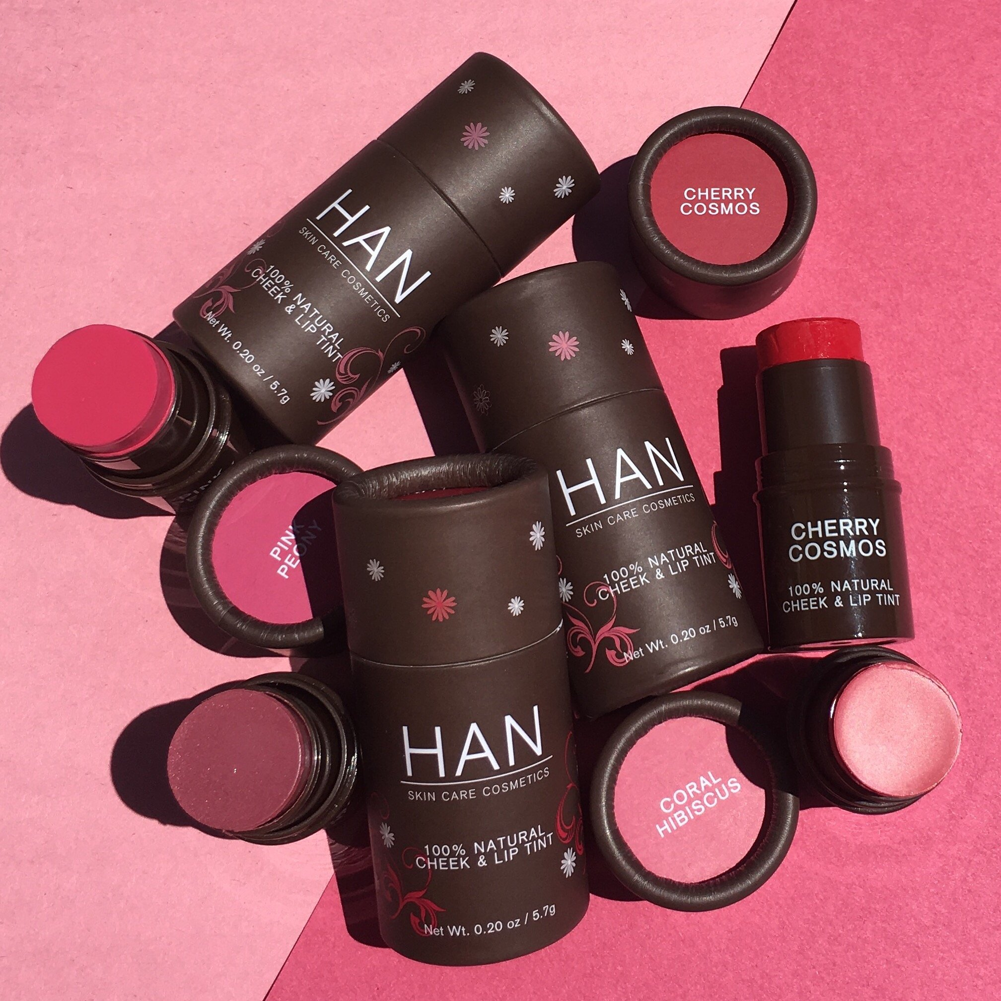 HAN Skin Care Cosmetics Natural Cheek and Lip Tint, Rose Berry by HAN (Image #4)
