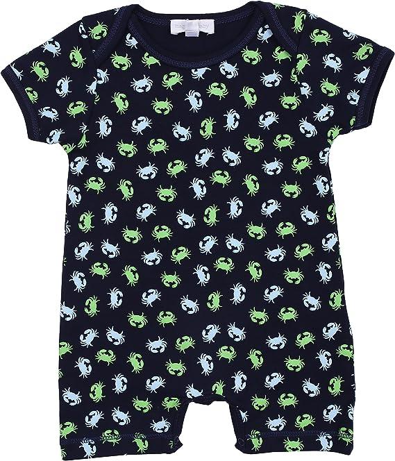 Short Playsuit NEW Magnolia Baby Boy TINY TURTLES blue Emb