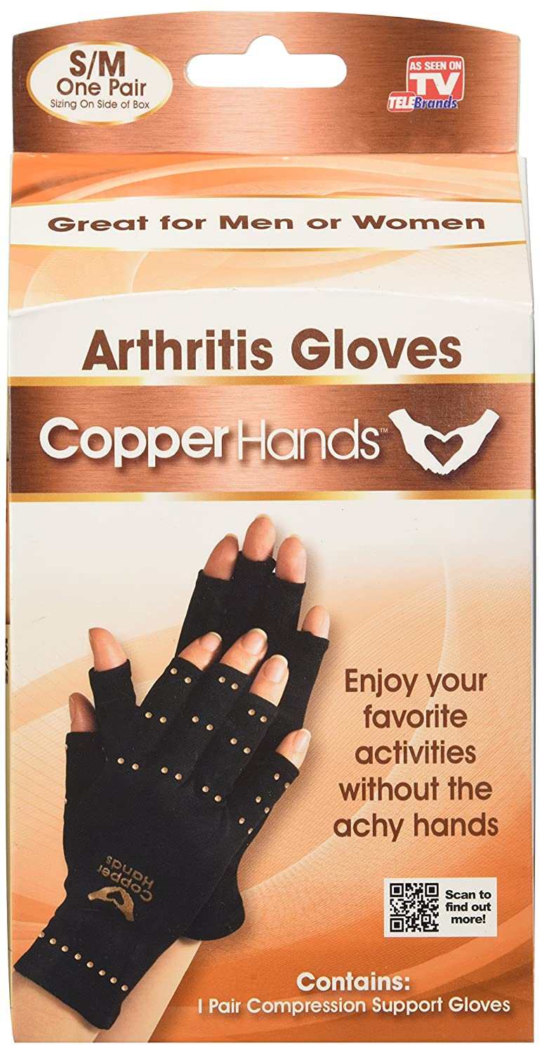 Fingerless gloves asda - Amazon Com Copper Hands Gloves As Seen On Tv Arthritis Compression Gloves Health Personal Care