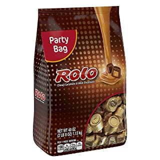 Rolo Gluten Free Chewy Caramels in Milk Chocolate, Candy, Individually Wrapped Candy, 40 Ounce Bag