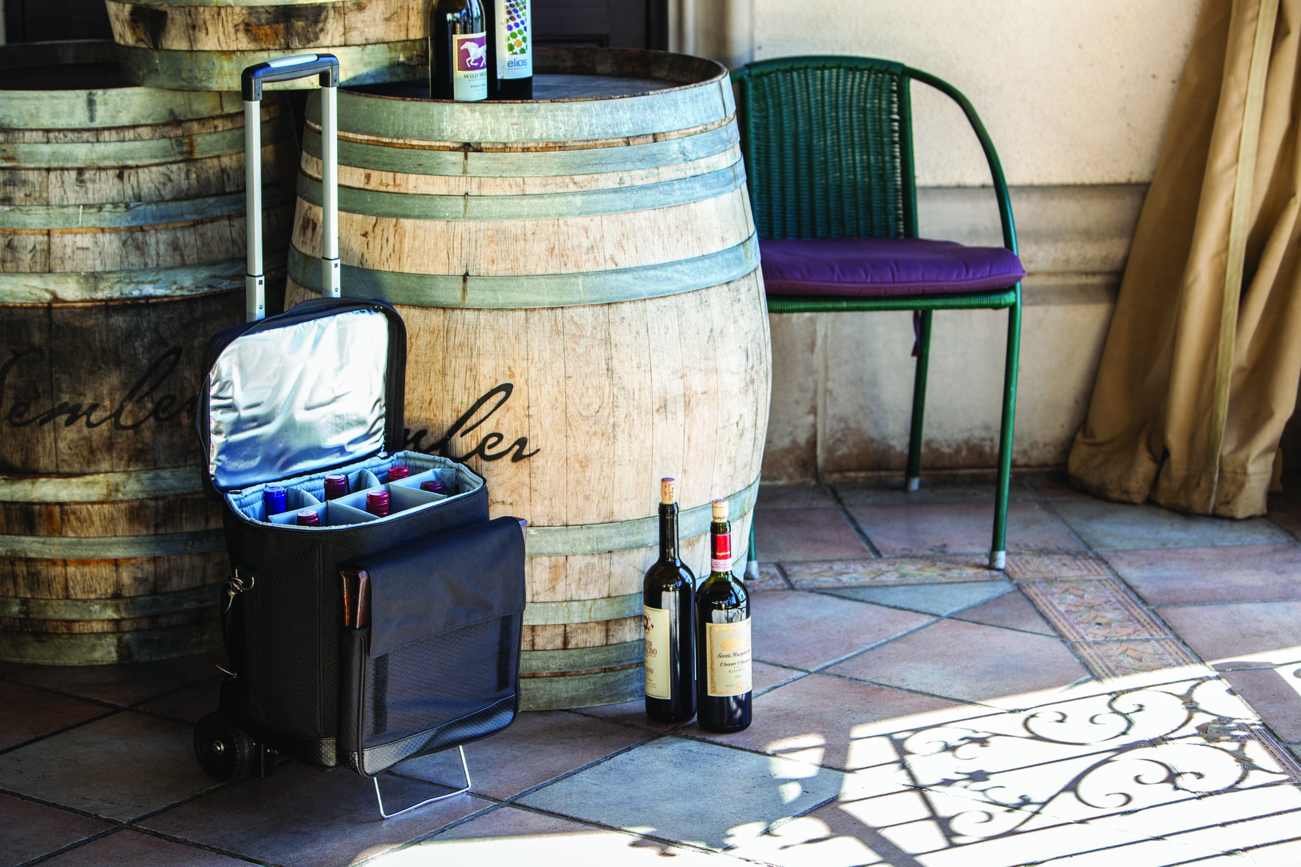 LEGACY - a Picnic Time Brand Cellar Insulated Six Bottle Wine Tote with Trolley by LEGACY - a Picnic Time Brand (Image #4)