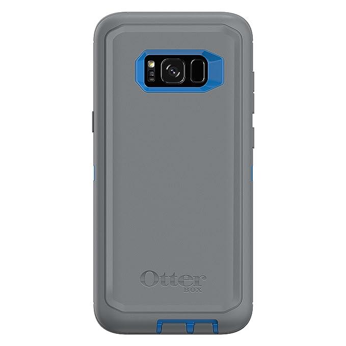 online store ea810 90815 OtterBox Defender Series SCREENLESS Edition for Samsung Galaxy S8+ -  Frustration Free Packaging - Marathoner (Cowabunga Blue/Gunmetal Grey)