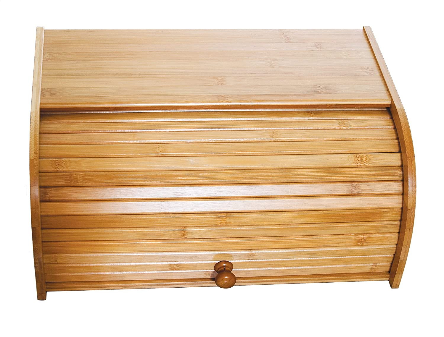 Amazon.com: Lipper International 8846 Bamboo Rolltop Bread Box: Bread Box  Large: Kitchen U0026 Dining