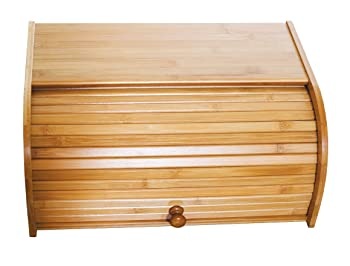 Lipper International Bamboo Wood Roll Top Bread Box