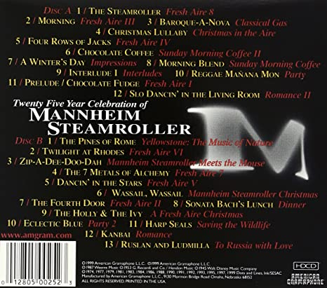 Mannheim Steamroller - 25 Year Celebration of Mannheim Steamroller ...