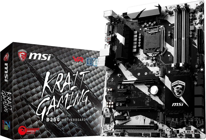 MSI Gaming Intel B250 LGA 1151 DDR4 HDMI VR Ready ATX Motherboard (B250 KRAIT GAMING) (Renewed)