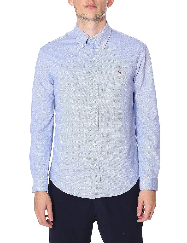 Blue Long Lauren Oxford Polo Ralph Men's Sleeve Xxl Knit Shirt UVGpLSMzq