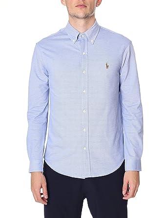 a94520fa915 Polo Ralph Lauren Men s Oxford Knit Long Sleeve Shirt Blue XXL ...