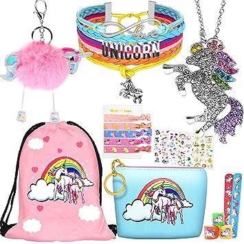 Amazon.com: Unicorn Gifts - 8 unidades de pulseras de collar ...