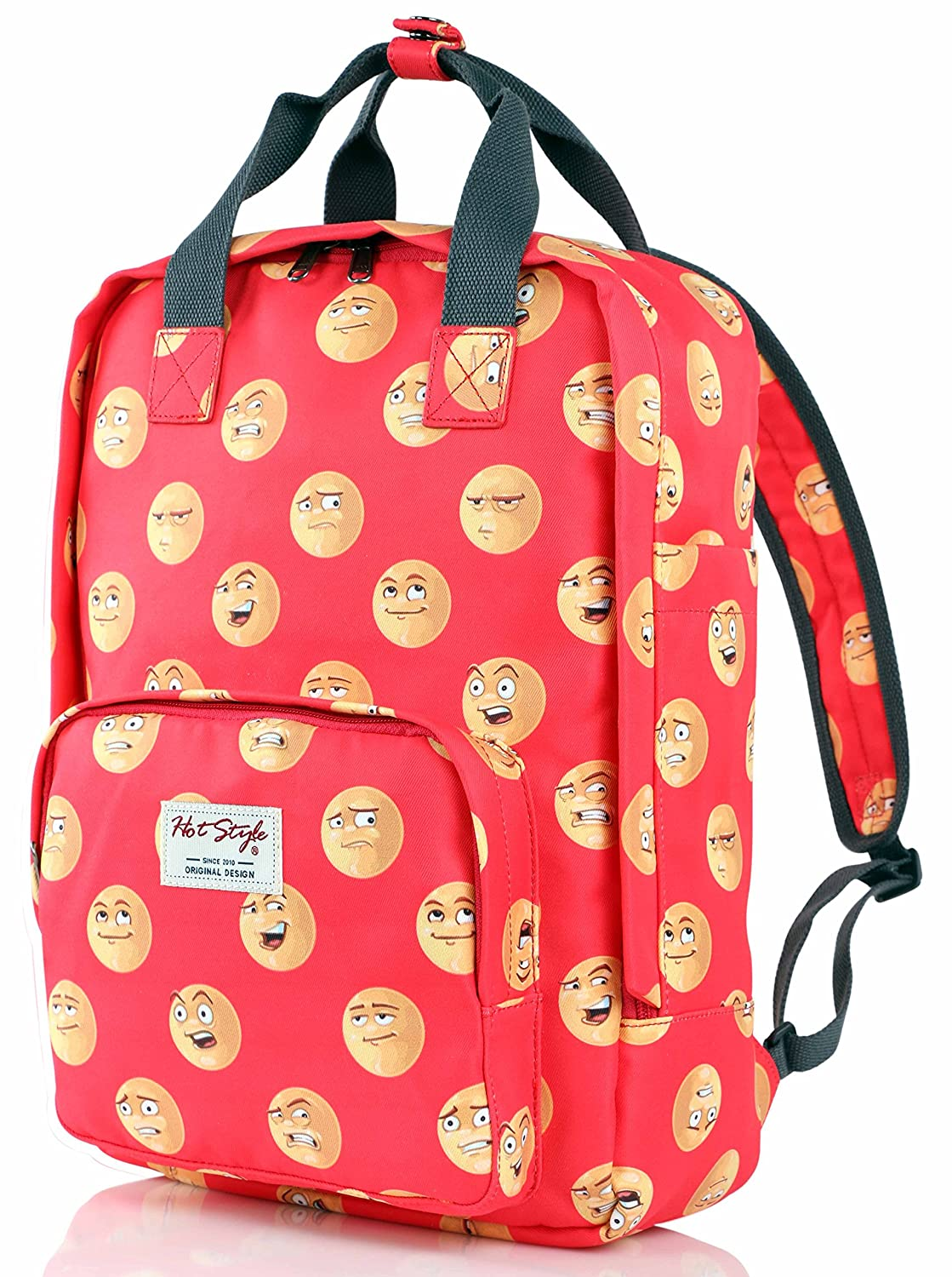 Hotstyle Funny CuteバックパックPurse |女の子| Holds 13インチノートパソコン  D164A, Emoji B01N5HDERP