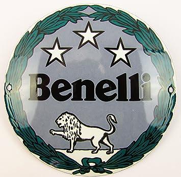 NUEVO esmalte Cartel Benelli 12 cm redondo, Classic ...