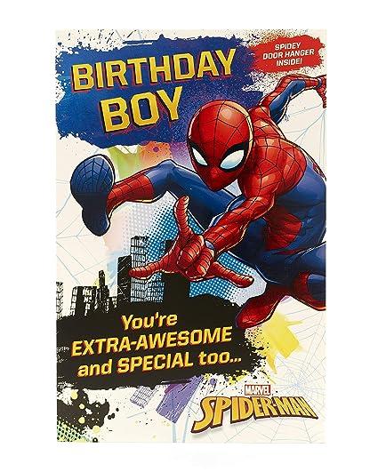 Carlton 553192-0-1 Marvel - Tarjeta de cumpleaños para ...