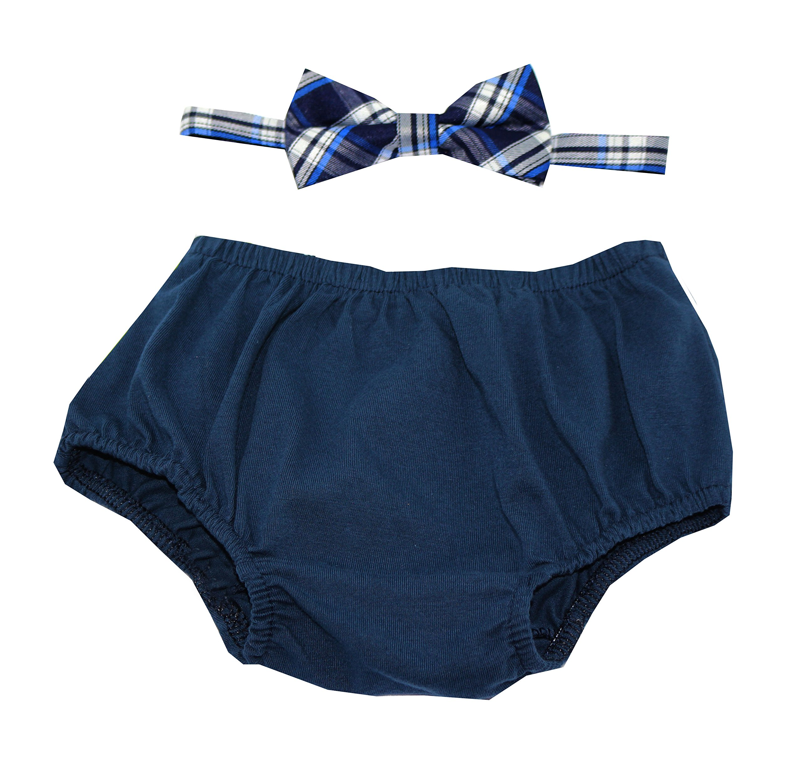 Cake Smash Outfit Boy First Birthday Includes Bloomers And Bow Tie Navy Blue Bloomer
