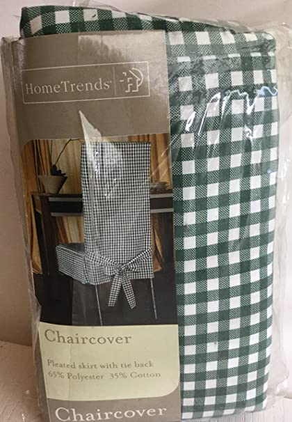Superb Amazon Com Home Trends Chair Cover Green Gingham Check Andrewgaddart Wooden Chair Designs For Living Room Andrewgaddartcom