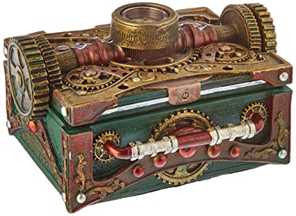 Amazoncom Steampunk Trinket Jewelry Box Steam Punk W Compass