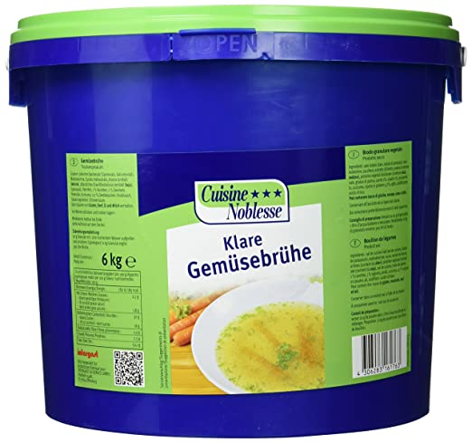 Cuisine Noblesse Klare Gemüsebrühe, 1er Pack (1 x 6 kg): Amazon.de ...