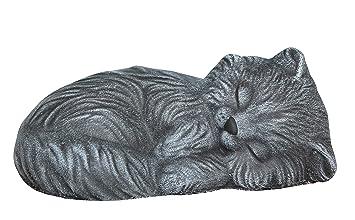 Adorno de jardín Tamaño pequeño saco de dormir de gato, piedra fundido, Slate gris: Amazon.es: Jardín