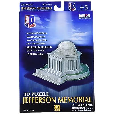 Daron Jefferson Memorial 3D Puzzle 35-Piece: Toys & Games