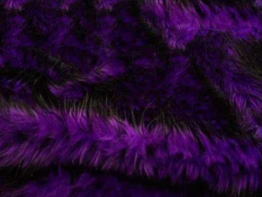 Faux Fake Fur Husky Fur Purple 58 Inch Wide Fabric By the Yard from The Fabric Exchange ®