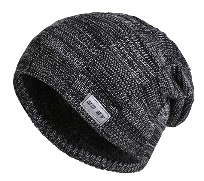 GG ST Winter Long Hat Men   Women Fleece Lining Beanie Skull Cap ... 8a0047eee16