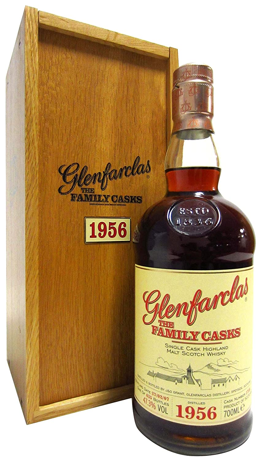 50 Year Old Whiskey >> Glenfarclas The Family Casks 1758 1956 50 Year Old Whisky
