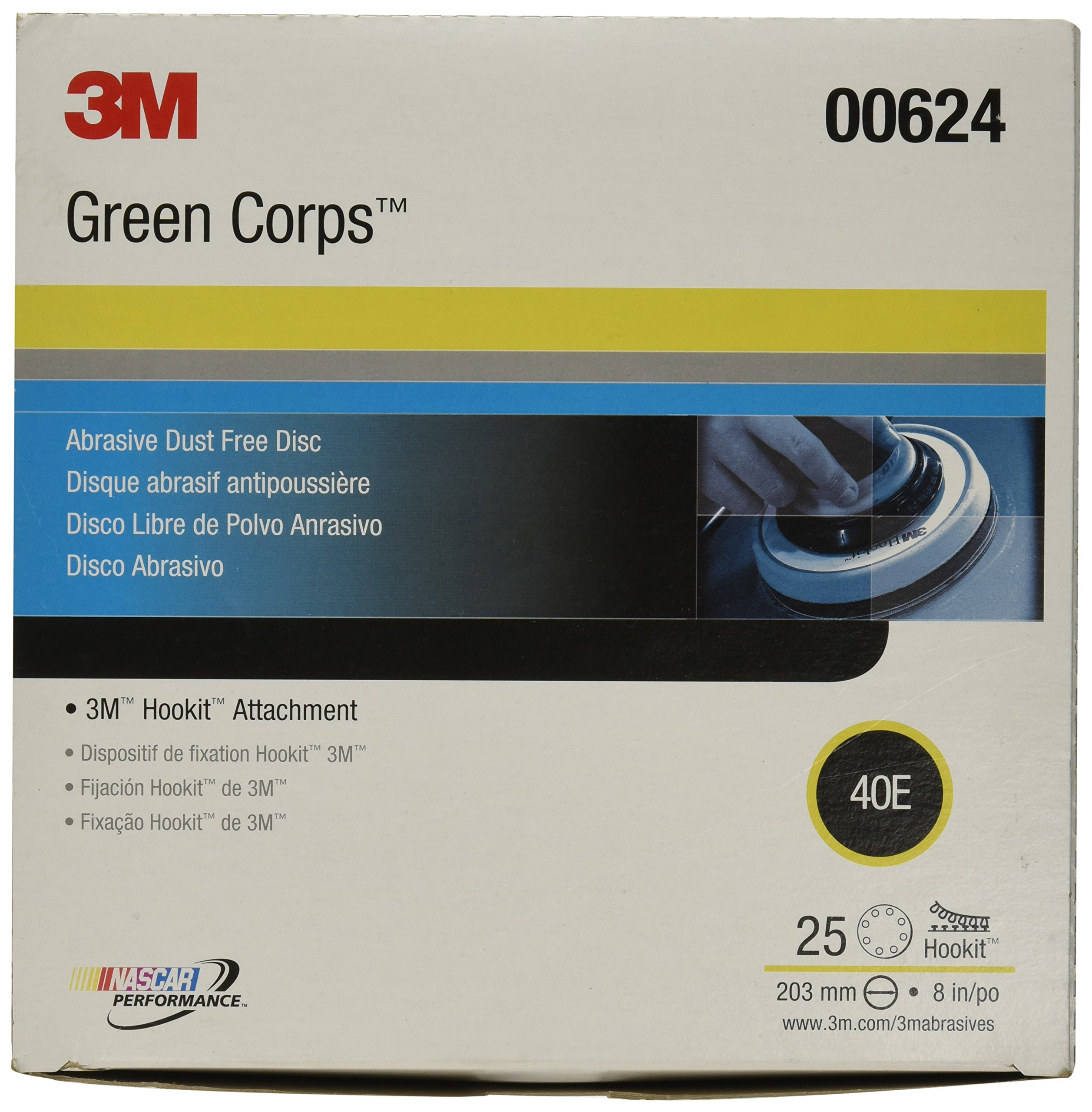 3M 00624 Green Corps Hookit 8'' 40E Grit Regalite Dust-Free Disc by 3M (Image #2)