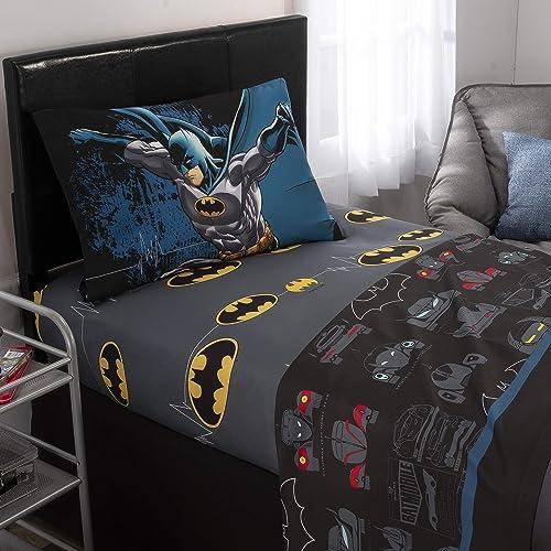 Charmant Warner Bros Batman Kids Bedding Soft Microfiber Sheet Set, Twin Size 3 Piece