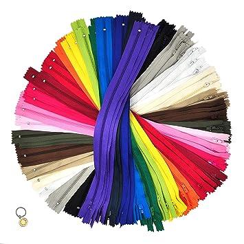 Amazon.com: Mandala Crafts cremallera de bobina de nailon de ...