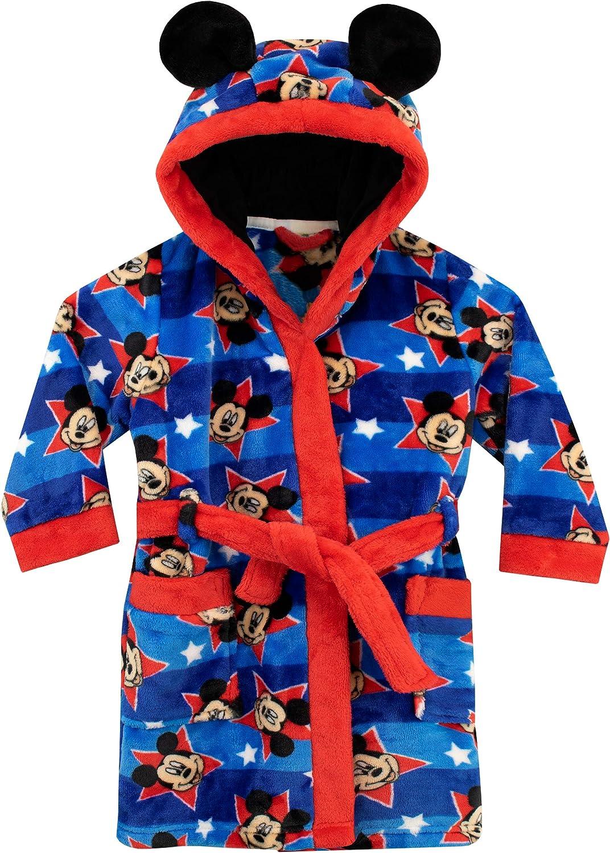 Mickey Mouse Boys Soft Coral Fleece Long Sleeve Pyjamas