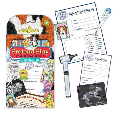 eeBoo Veterinarian Vet Pretend Play Set for Kids: Toys & Games