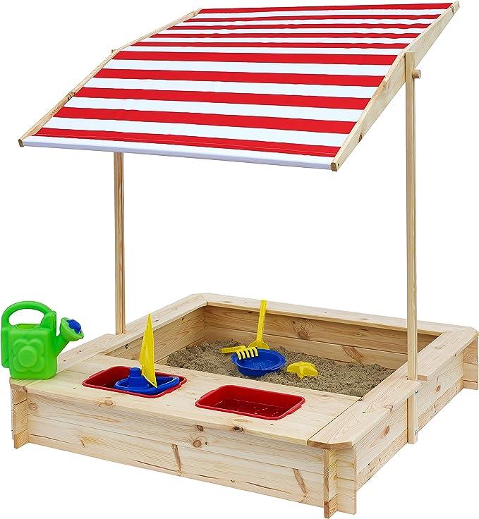 Beluga Juguetes 50380 – Caja de Arena con Agua de Barro de Rango y Rojo/Blanco Techo, Natural/Rojo: Amazon.es: Juguetes y juegos
