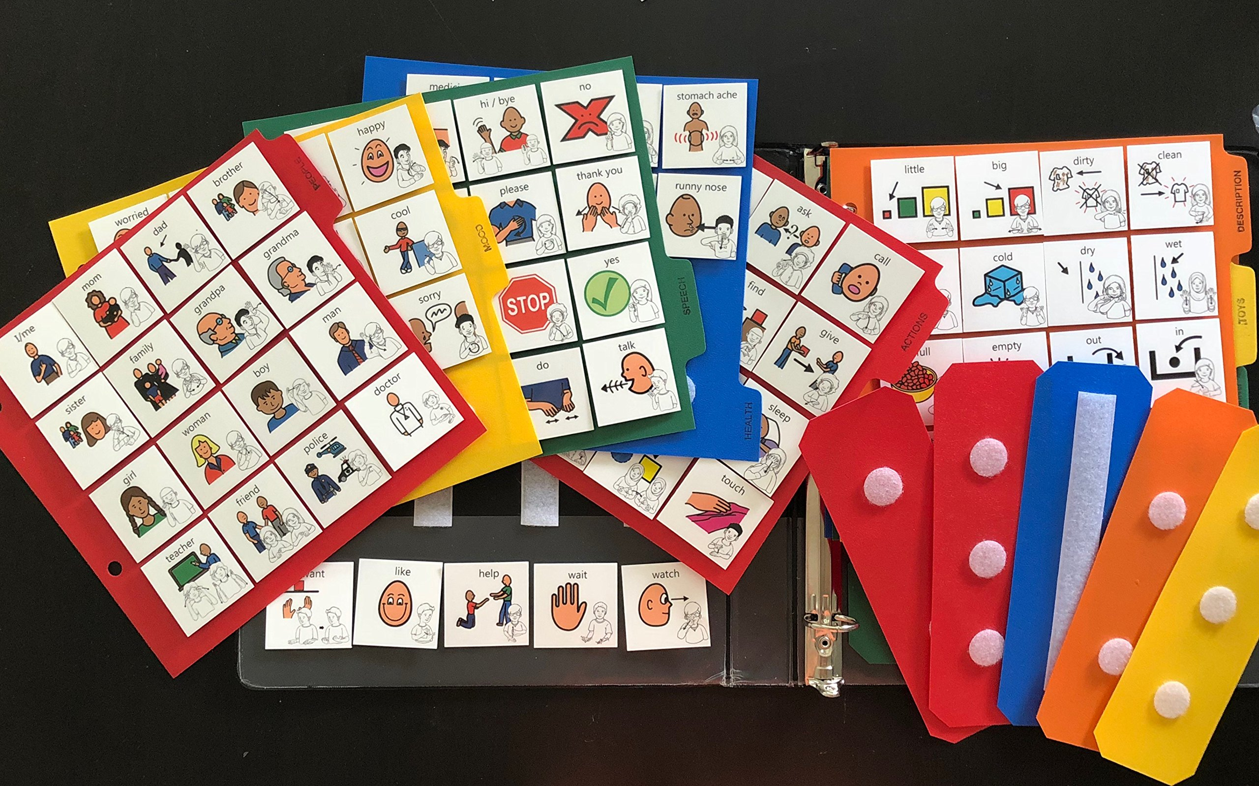 1 Communication Book 230 Pecs Cards with Asl for Autism Aba Therapy Boardmaker