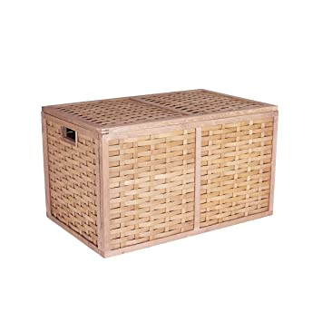 Household Essentials ML 5675 Extra Large Wicker Storage Box With Lid    15.75u0026quot;H