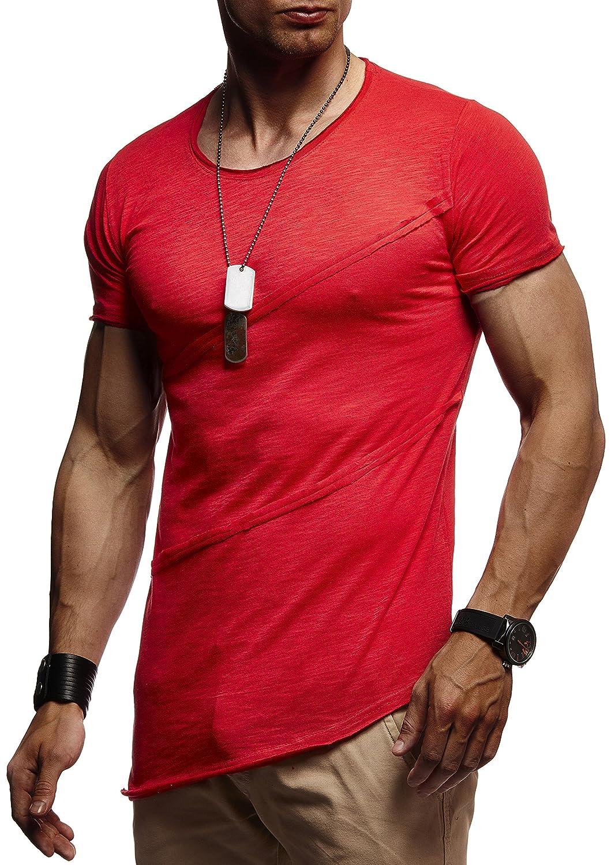 111a3a89913d2d LEIF NELSON Herren T-Shirt Tiefer Rundkragen
