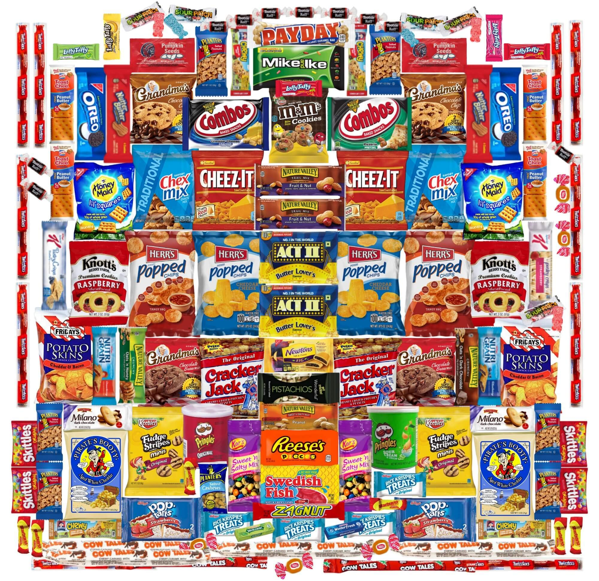 Deluxe 130 Count Snack Food Variety Pack | Office Snacks or School Lunchbox Snacks |10 Pounds of Sweet and Salty Options by Perpetual Motion Enterprises, Inc. (Image #1)