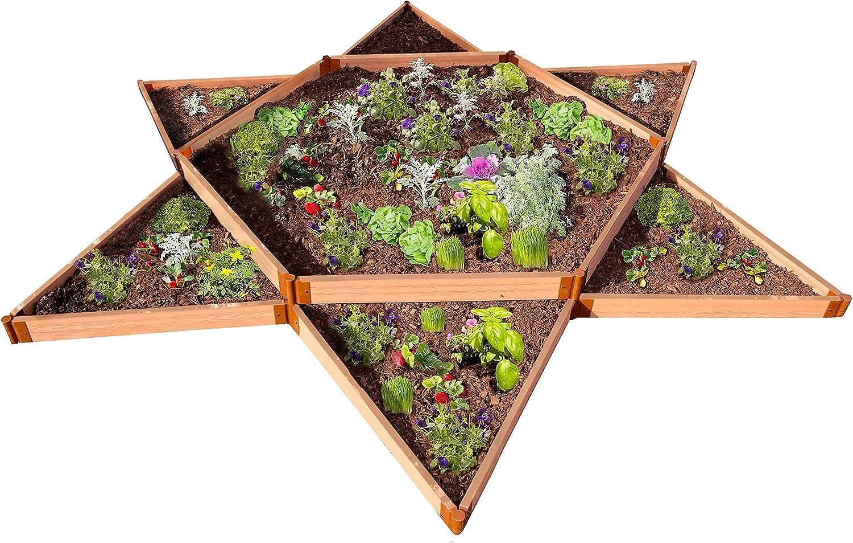 Frame-It-All Classic Sienna Raised Garden Bed Garden Star 12 x 12 x 11 2 Profile